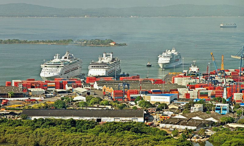 Cruise Ships in Cartagena Harbour