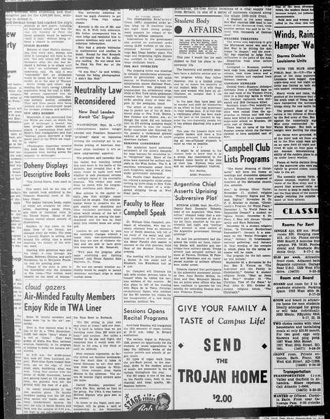 Daily Trojan, Vol. 33, No. 15, September 23, 1941