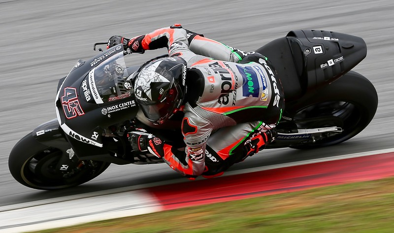 Scott Redding, Aprilia Racing Team Gresini during day one of official MotoGP testing at Sepang International Circuit, Malaysia 28th January 2018. Photo by John Stewart/SportDXB