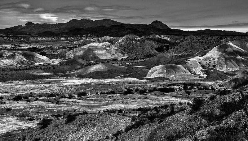 Badlands of Big Bend National Park