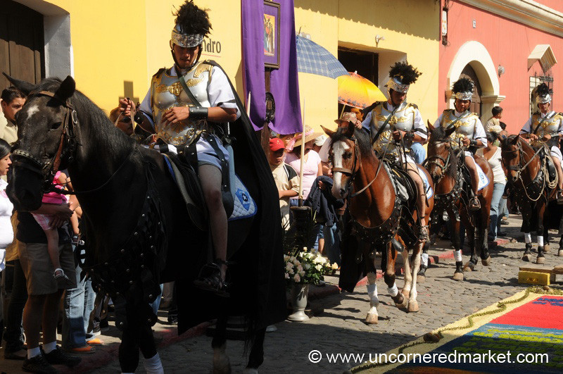 Romans on Horses, Semana Santa - Antigua, Guatemala