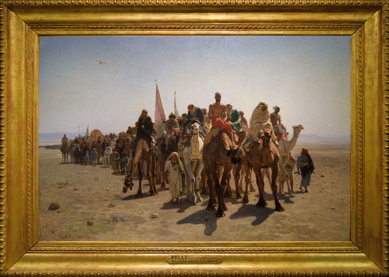 Léon Belly, Pilgrims going to Mecca, 1861