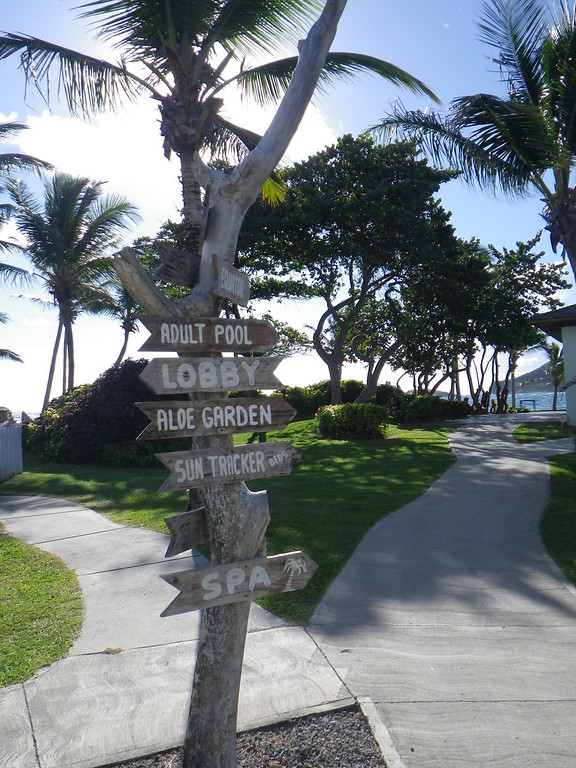 . Janet Podolak/JPodolak@News-Herald.com<p>                                                                        Signs around the grounds of Coconut Bay Resort point  the way to adult-only and family amenities.