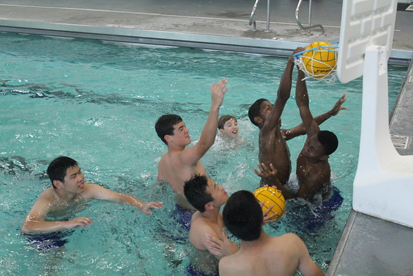 Summer school students enjoy time in the pool