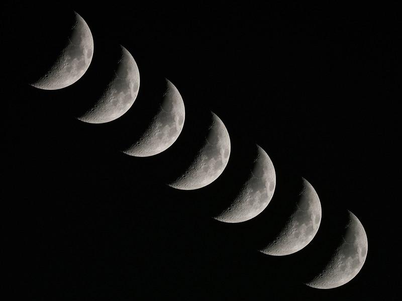 Crescent Moon Multiple Exposure