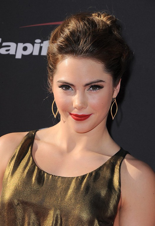. Gymnast McKayla Maroney arrives at the ESPY Awards on Wednesday, July 17, 2013, at Nokia Theater in Los Angeles. (Photo by Jordan Strauss/Invision/AP)