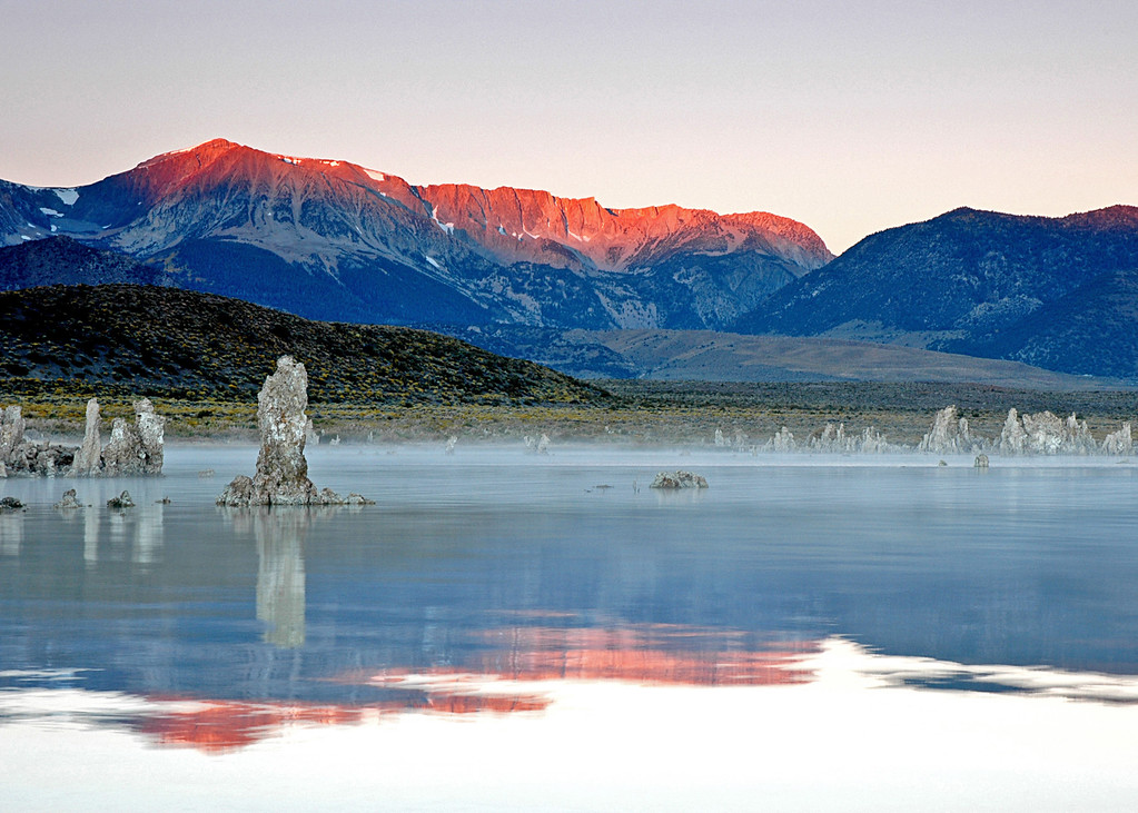 Photo of Early Light on Sierra Crest, Mono Lake, CA