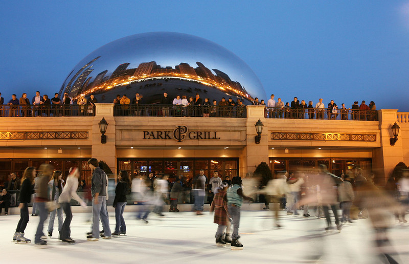 Skaters at Millennium Park