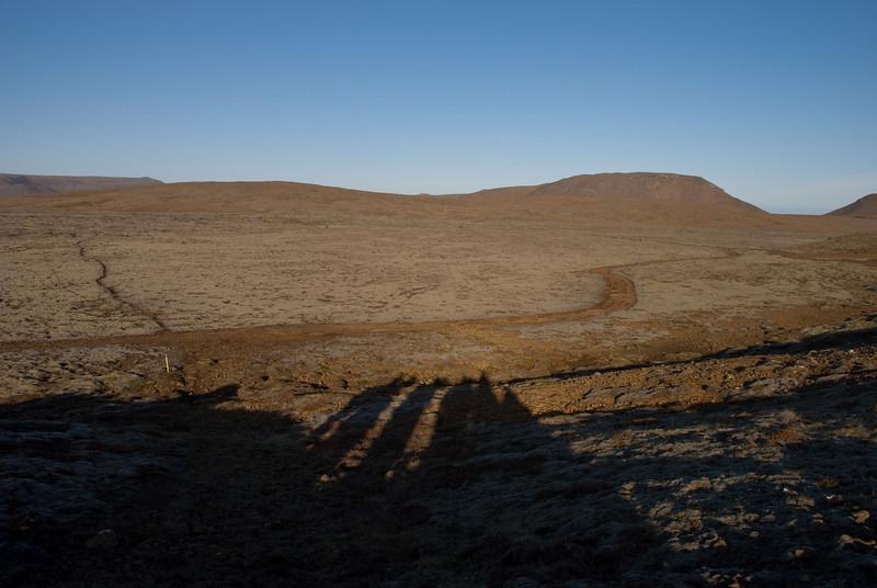 Framundan var ágætisslóði upp á Vatnsheiði