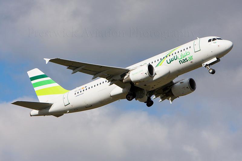 EC-ISI. Airbus A320-214. Nas Air. Prestwick. 160308.