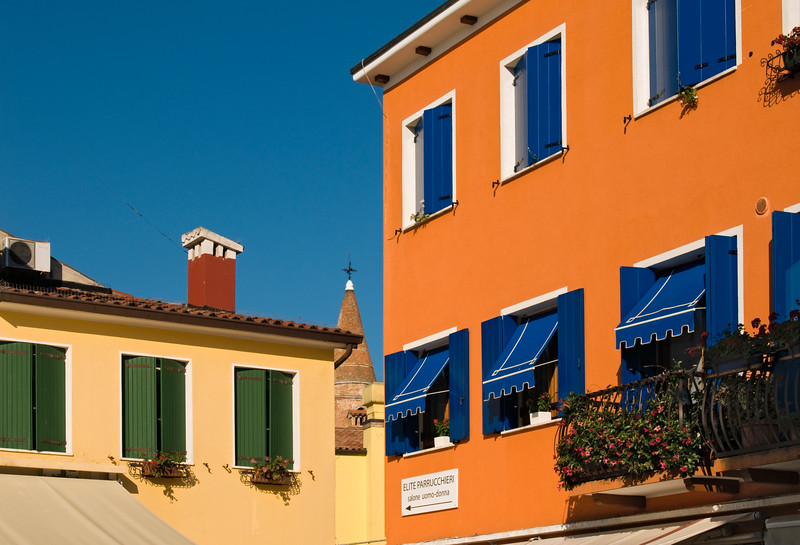 Colourful House Facades, Caorle, Italy