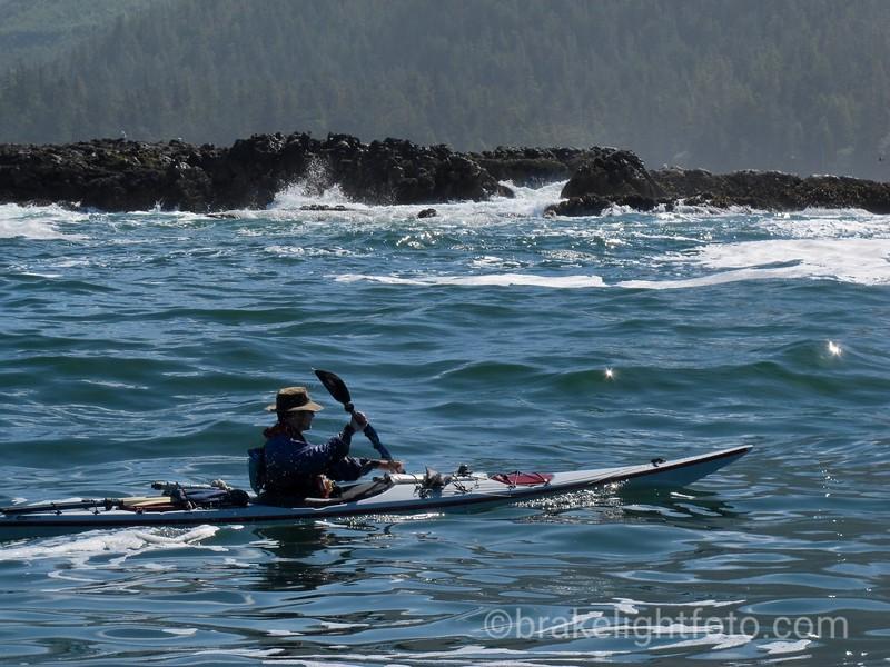 Paddling toward Kwakiutl Point