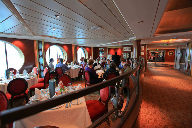 one of the cruise ship dining rooms
