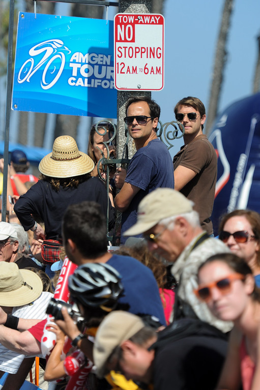 . Bike fans line the finish line for Stage 4 of the Amgen Tour of California in Santa Barbara, Wednesday, May 15, 2013. (Michael Owen Baker/Staff Photographer)