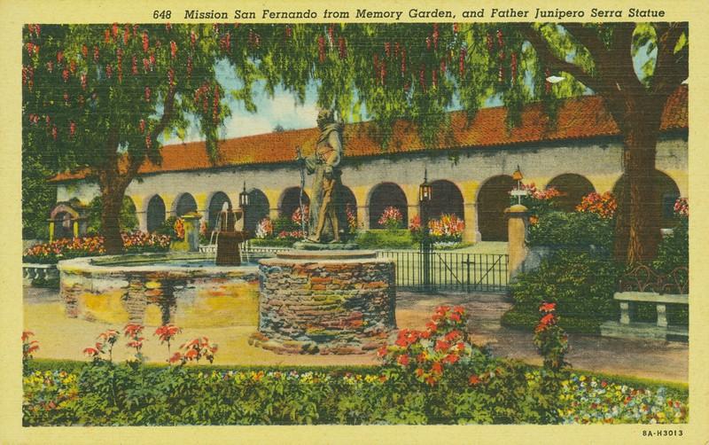 Mission San Fernando from Memory Garden