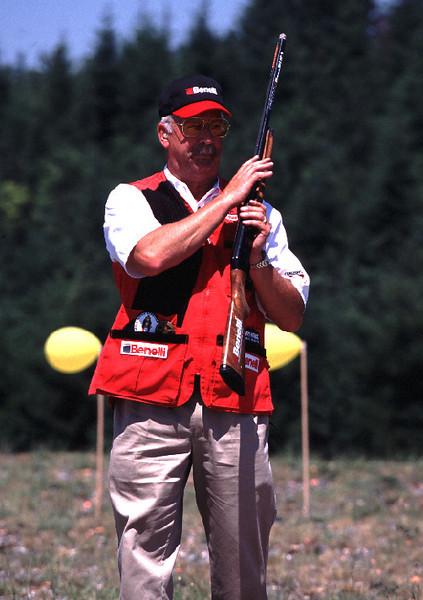 Tom Knapp, shotgun sharp shooter for Benelli Co.