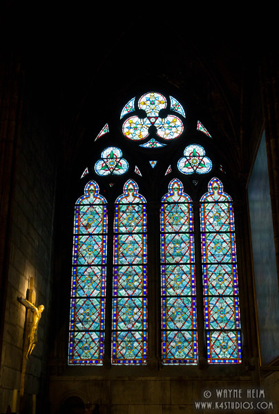 Stained Glass in Notre Dame     Photography by Wayne Heim