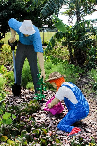 Gardening Grandpa  & Granddaughter