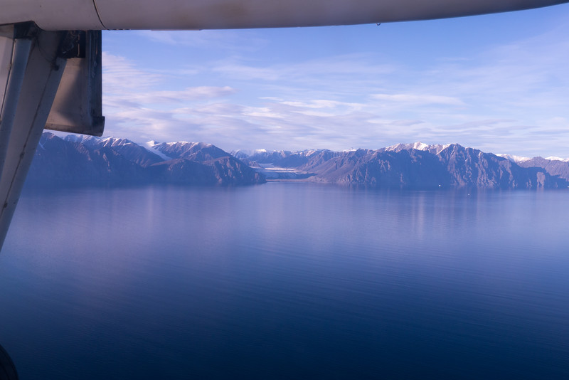 Flying into Pond Inlet - Bylot Island in view