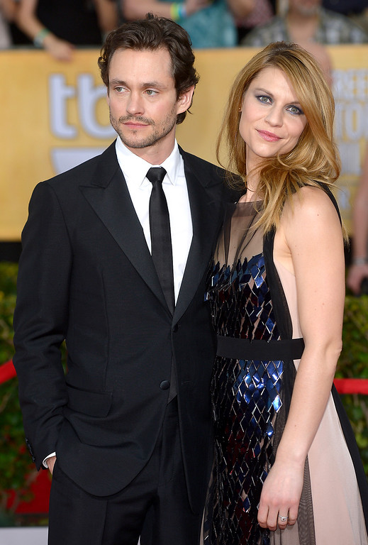. Hugh Dancy and Claire Danes arrives at the 20th Annual Screen Actors Guild Awards  at the Shrine Auditorium in Los Angeles, California on Saturday January 18, 2014 (Photo by Michael Owen Baker / Los Angeles Daily News)