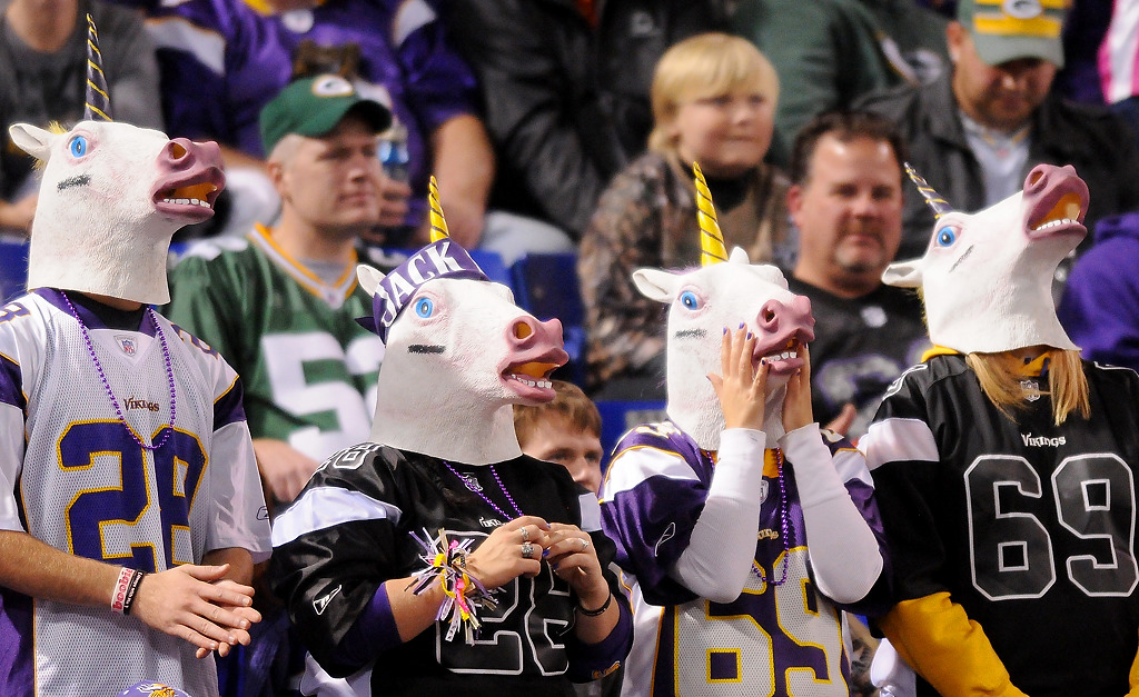 . A herd of unicorns watches the game. (Pioneer Press: John Autey)