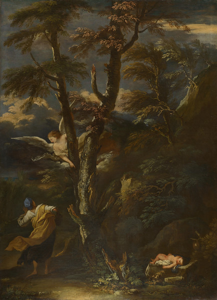 An Angel appears to Hagar and Ishmael in the Desert
