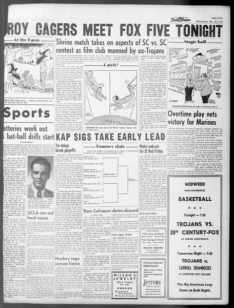 Daily Trojan, Vol. 37, No. 60, January 30, 1946