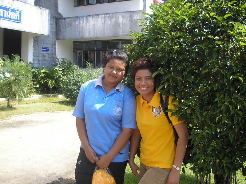 Kik and Nui at her college.