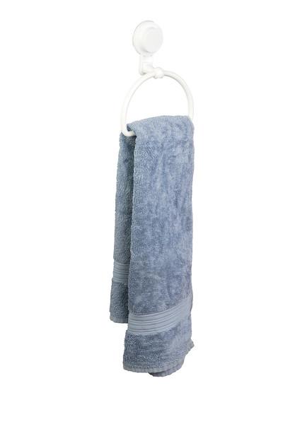 Gelmar Perma Power Suction Towel Ring White