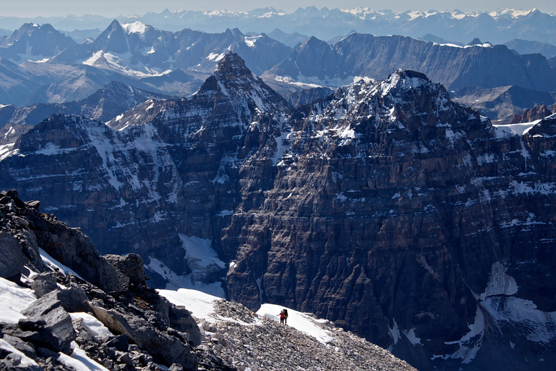 Hiking in the Rockies - Mt Temple Ridgeline