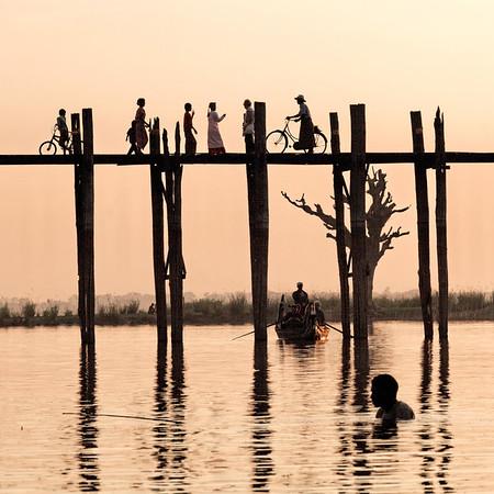 Pont U Bein - à pied, à vélo