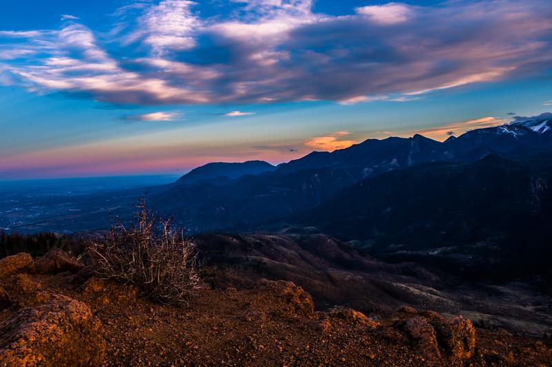 Cheyenne Mountain at Sunset
