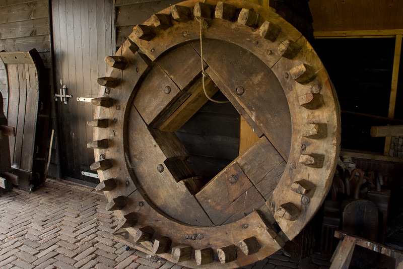 One of the giant gears.