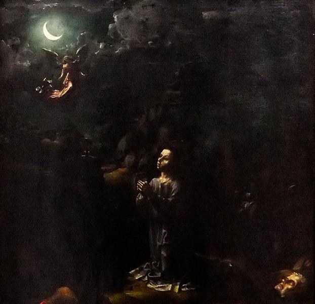 """Nächtliches Flehen (""""Christus am Ölberg"""", Jan Gossaert, um 1509, noch in Gemäldegalerie)"""