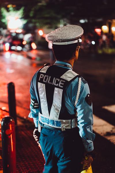 Police In Rain