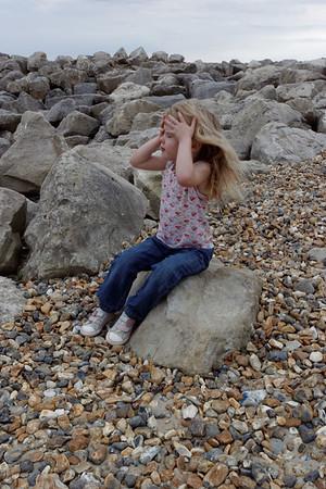 Jaimie at Highcliffe beach Sept 2015
