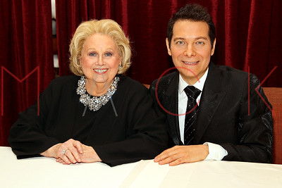 NEW YORK, NY - NOVEMBER 29:  Barbara Cook and Michael Feinstein pose after a performance Feinstein's at Loews Regency Ballroom on November 29, 2011 in New York City.