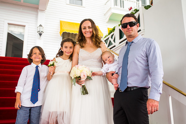 Ste. Anne Church Grand Hotel intimate Wedding Photography