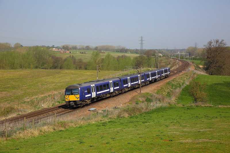 360102 on the 1Y37 1053 Ipswich to London Liverpool Street at Brantham on the 20th April 2018.JPG