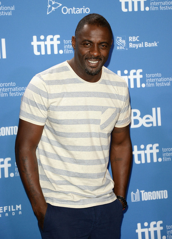 """. Actor Idris Elba attends \""""Mandela: Long Walk To Freedom\"""" Press Conference during the 2013 Toronto International Film Festival at TIFF Bell Lightbox on September 8, 2013 in Toronto, Canada.  (Photo by Jason Merritt/Getty Images)"""