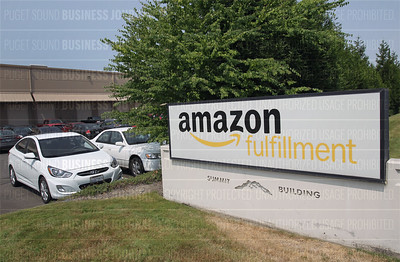 Pictured is Amazon.com's Fulfillment Center in Sumner, Washington