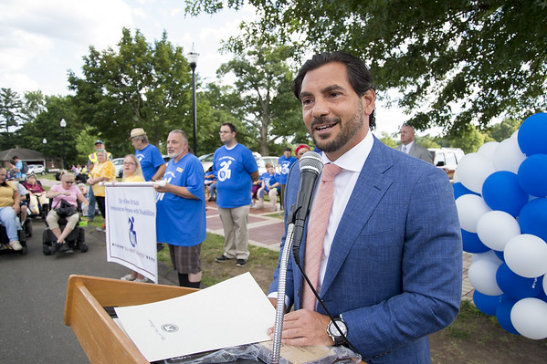 07/24/19 Wesley Bunnell | Staff State Sen. Gennaro Bizzarrot at the Walk and Roll event this past summer in Walnut Hill Park.
