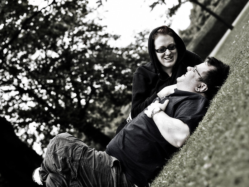 Couple in the Park - Edinburgh - Street Portrait