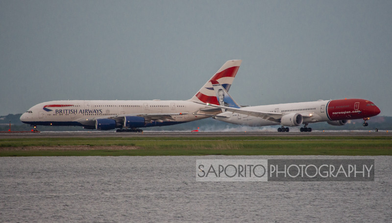Norwegian 787 and British Airways A380