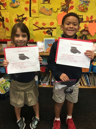 "Our ""Oreo Cookie"" Quality Handwriting Award Winners!"