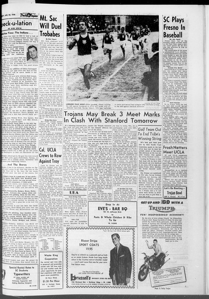Daily Trojan, Vol. 47, No. 117, April 20, 1956