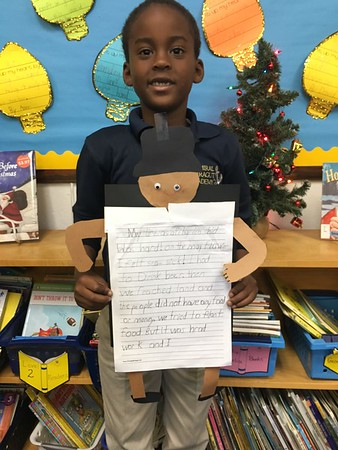 We love our Pilgrim Writing Assignment! We learned that life as a Pilgrim was hard!
