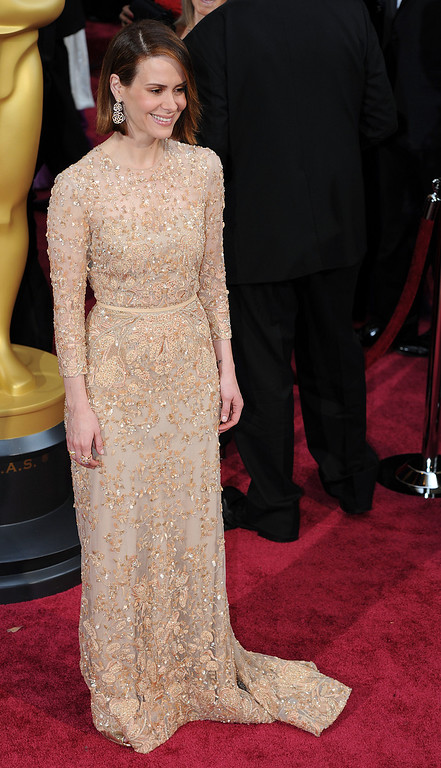 . Sarah Paulson attends the 86th Academy Awards at the Dolby Theatre in Hollywood, California on Sunday March 2, 2014 (Photo by John McCoy / Los Angeles Daily News)
