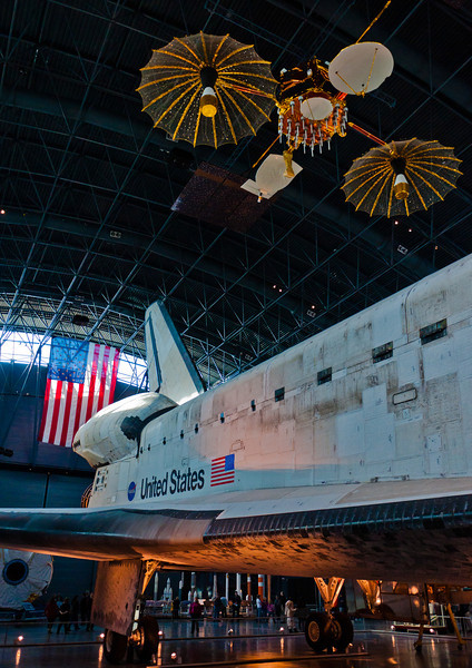 Space Shuttle and Satellite, National Air and Space Museum, Virginia