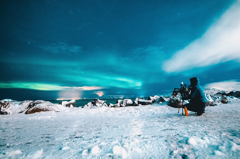 northern lights in iceland - photography
